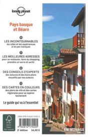 Pays basque et Béarn (édition 2018) - 4ème de couverture - Format classique