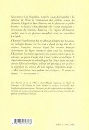 L'Empire Des Sciences Napoleon Et Ses Savants - 4ème de couverture - Format classique