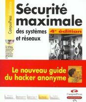 Securite Optimale : Guide D'Un Ex-Hacker - Intérieur - Format classique