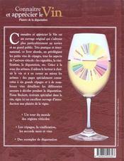 Connaitre et apprecier les bons vins - 4ème de couverture - Format classique