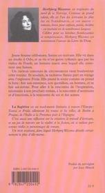 La Fugitive - 4ème de couverture - Format classique