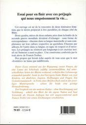 Baguette Oder Schwartzbrot ; Correspondance Gallo-Germaine - 4ème de couverture - Format classique