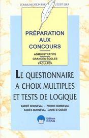 Questionnaire Choix Multiples - Intérieur - Format classique