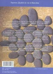 Espaces, qualité de vie et bien-être - 4ème de couverture - Format classique