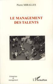 Le management des talents - Couverture - Format classique