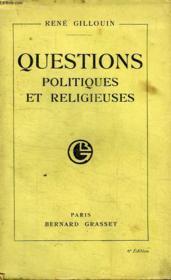Questions Politiques Et Religieuses. - Couverture - Format classique