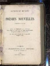 Poésies nouvelles 1836-1852 - Couverture - Format classique