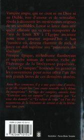 Chroniques des vampires T.2 ; Lestat le vampire - 4ème de couverture - Format classique