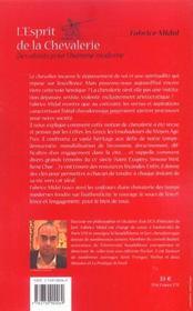 L'esprit de la chevalerie, des atouts pour l'homme moderne - 4ème de couverture - Format classique
