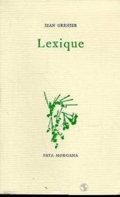 Lexique - Couverture - Format classique