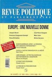 Revue Politique Et Parlementaire N.983 Mai Juin 1996 - Couverture - Format classique