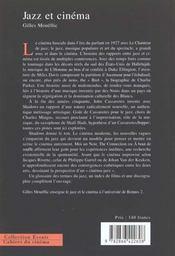 Jazz et cinema - 4ème de couverture - Format classique