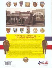 Hommes et ouvrages de ... t.1 ; la ligne maginot - 4ème de couverture - Format classique