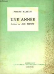 Une année. Journal 1959 - 1960 - Couverture - Format classique