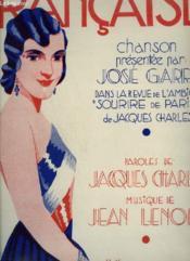 Francaise - Piano Et Chant. - Couverture - Format classique