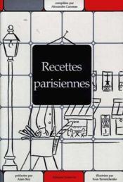 Recettes parisiennes - Couverture - Format classique