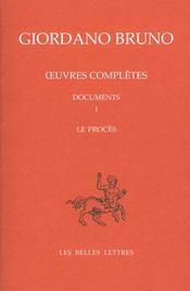 Proces de g.bruno/t8 documents t1 (le) - Intérieur - Format classique
