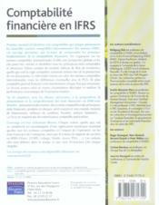 Comptabilite financiere en IFRS - 4ème de couverture - Format classique