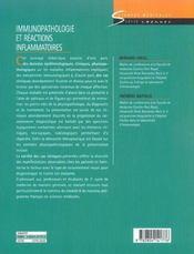 Immunopathologie et réactions inflammatoires - 4ème de couverture - Format classique