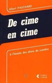 Cime En Cime (De) - Couverture - Format classique