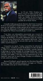 Oradour, L'Extermination - 4ème de couverture - Format classique