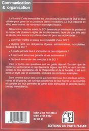 Comment Gerer Une S.C.I. ; Gestion Administrative. Comptable. Fiscale Et Locative - 4ème de couverture - Format classique