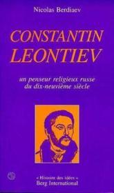 Constantin Leontiev - Couverture - Format classique