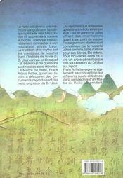 Reiki ; le legs du docteur usui - 4ème de couverture - Format classique
