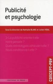 Publicité et psychologie - Couverture - Format classique