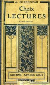 Choix De Lectures, Cours Moyen - Couverture - Format classique
