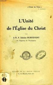 L'Unite De L'Eglise Du Christ - Couverture - Format classique