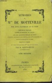 MEMOIRES DE Mme DE MOTTEVILLE SUR ANNE D'AUTRICHE ET SA COUR, TOME II. - Couverture - Format classique