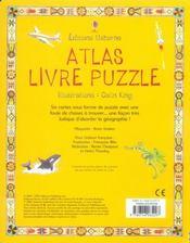 Atlas livre puzzle avec six cartes illustrees en puzzle - 4ème de couverture - Format classique