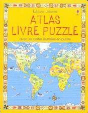 Atlas livre puzzle avec six cartes illustrees en puzzle - Couverture - Format classique