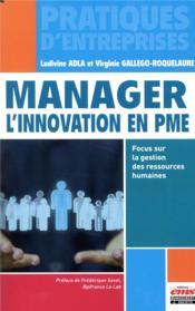 Manager l'innovation en PME - Couverture - Format classique