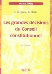 Les Grandes Decisions Du Conseil Constitutionnel - Intérieur - Format classique