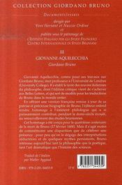 Giordano bruno - 4ème de couverture - Format classique