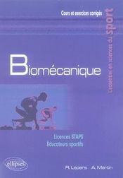 Biomécanique ; licence staps, éducateurs sportifs - Intérieur - Format classique