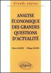 Analyse Economique Des Grandes Questions D'Actualite - Intérieur - Format classique
