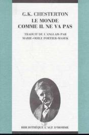 Monde Comme Il Ne Va Pas (Le) - Couverture - Format classique