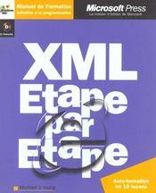 Xml (+ Cd-Rom) - Etape Par Etape - Livre+Cd-Rom - Intérieur - Format classique