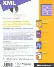 Xml (+ Cd-Rom) - Etape Par Etape - Livre+Cd-Rom - 4ème de couverture - Format classique