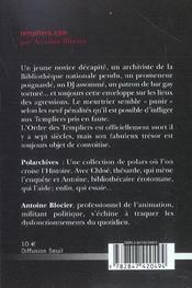 Templiers.Com - 4ème de couverture - Format classique