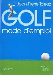 Golf, Mode D'Emploi - Intérieur - Format classique