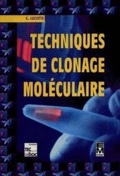 Techniques de clonage moleculaire - Couverture - Format classique