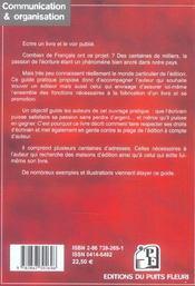 Publier Son Livre. Pour Les Auteurs Qui Veulent Etre Edites.Toutes Les Pistes A (3e édition) - 4ème de couverture - Format classique