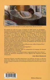 Femme à sa toilette ; beauté et soins du corps à travers les âges - 4ème de couverture - Format classique