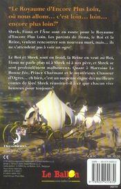 Shrek 2 ; Le Roman - 4ème de couverture - Format classique