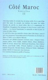 Côté maroc t.2 - 4ème de couverture - Format classique