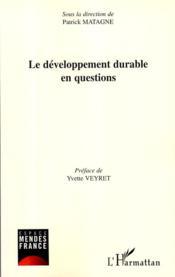 Le développement durable en questions - Couverture - Format classique